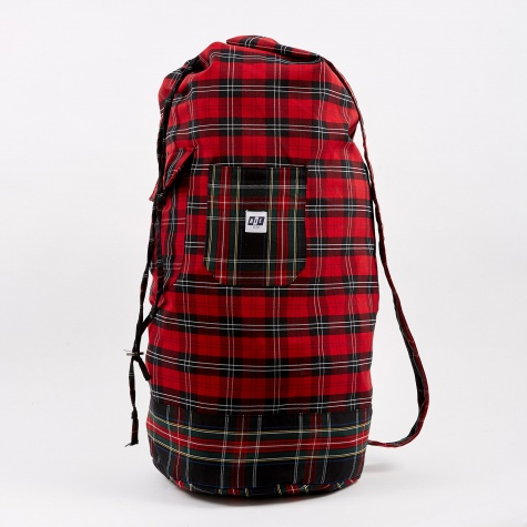 Tartan Check Laundry Bag - Red/Black