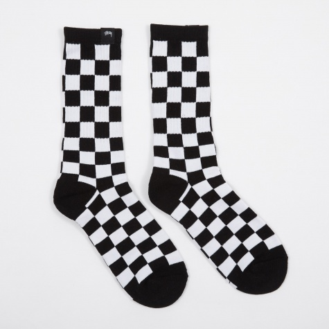 Checker Socks - Black/White