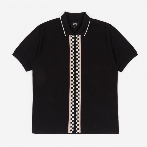 Julian Full Zip Polo Shirt - Black