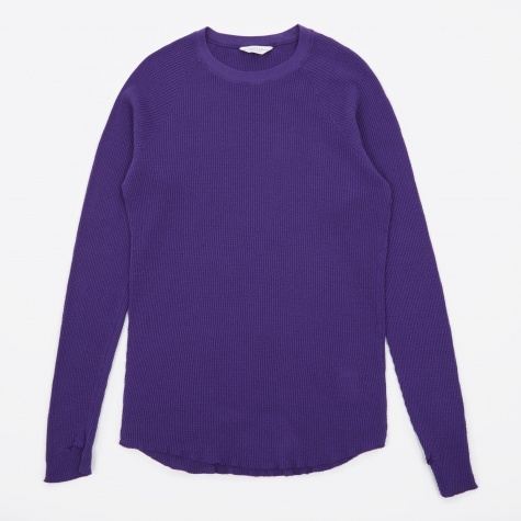 Cotton Long Sleeve Waffle - Purple