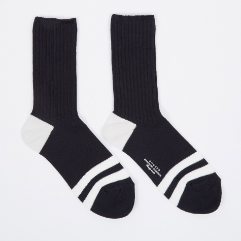 Socks - Navy/White