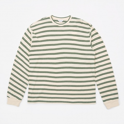 Striped Crewneck - Off White/Green