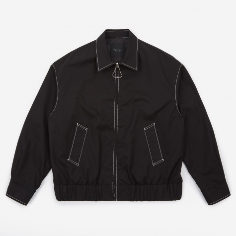 Cotton Zip Jacket - Black