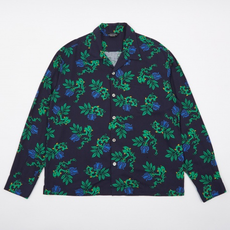 Shell Button Shirt - Dark Navy