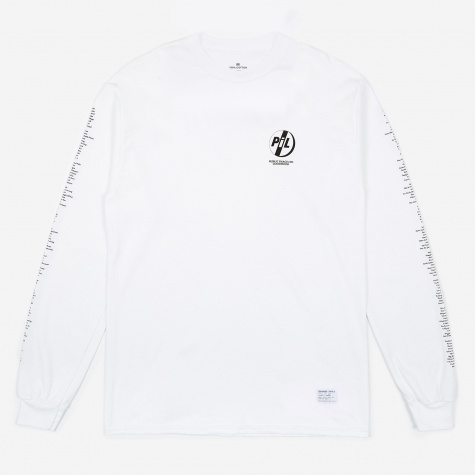 Goodhood x Public Image Ltd Tracklist L/S T-Shirt - White