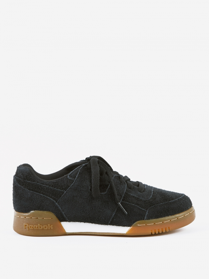 Reebok Workout Plus - Suede-Black/Gum (Image 1)
