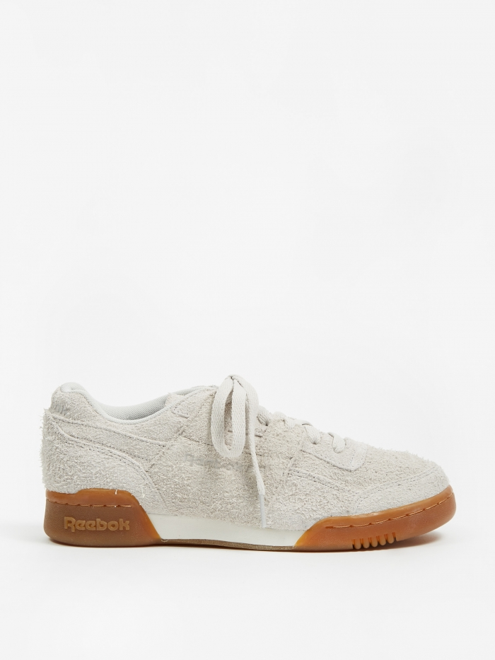 Reebok Workout Plus - Suede-White/Gum (Image 1)
