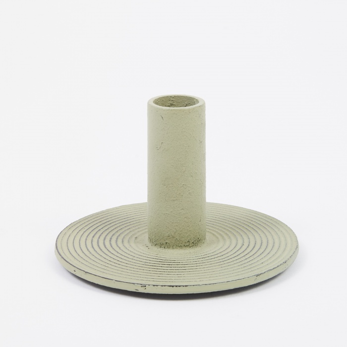 Ferm Living Cast Iron Candle Holder - Dusty Green (Image 1)
