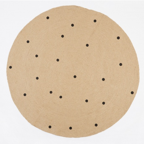 Jute Rug Black Dots - Large