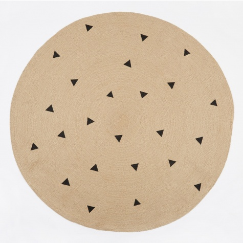 Jute Rug Black Triangles - Large