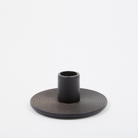 Cast Iron Candle Holder - Black