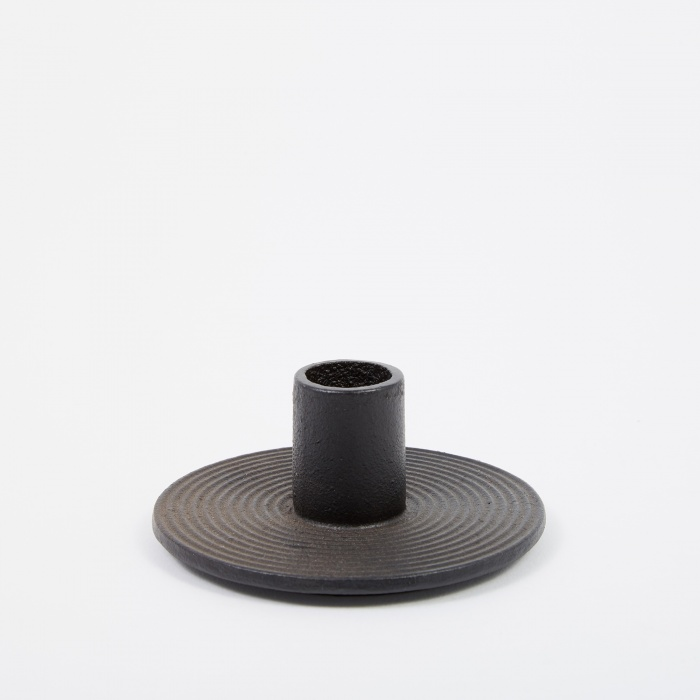 Ferm Living Cast Iron Candle Holder - Black (Image 1)