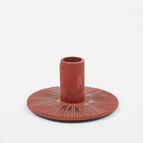 Cast Iron Candle Holder - Rust