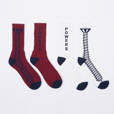 Screw Socks - Wine/Navy