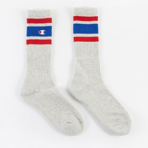 Socks - Grey/Blue/Red