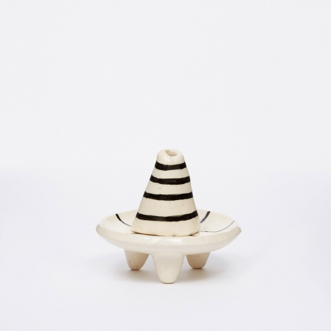 Black & White Incense Burner - Horizontal