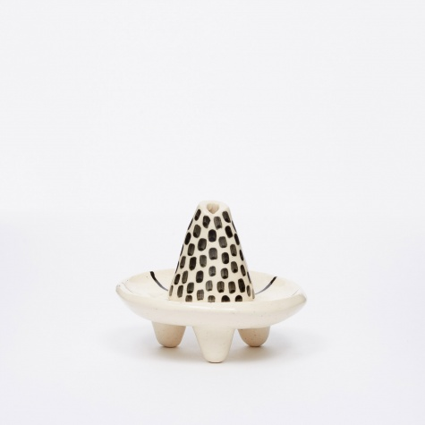 Black & White Incense Burner - Dots