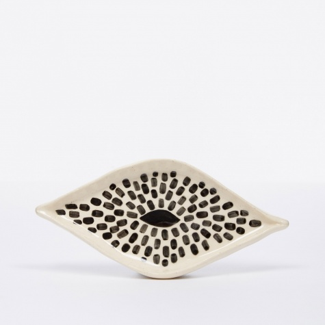 Black & White Eye Dish - Dots