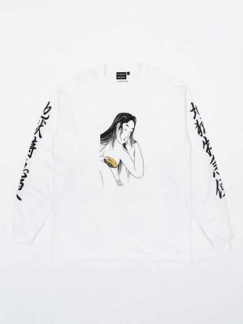 x Flagstuff Mysterious L/S T-Shirt - White