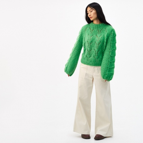 Julliard Mohair Sweater - Classic Green