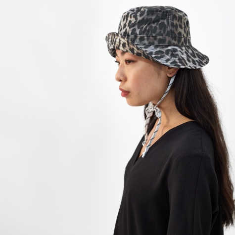 Cherry Blossom Bucket Hat - Leopard