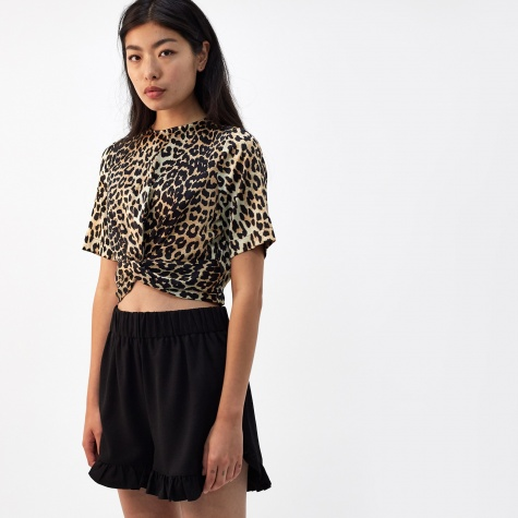 Calla Silk Top - Leopard