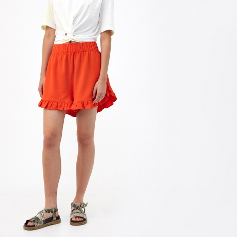 Clark Frilled Shorts - Big Apple Red