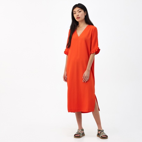 Clark Column Dress - Big Apple Red