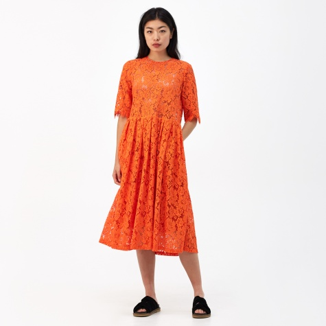 Jerome Lace Dress - Big Apple Red