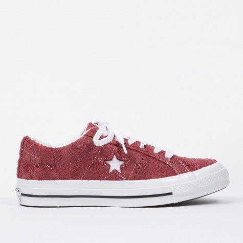 One Star - Deep Bordeaux/White/White
