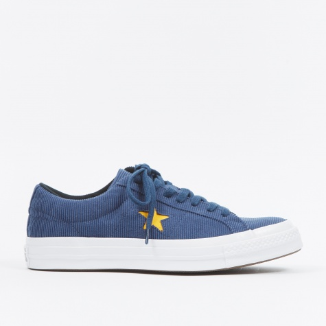 One Star Ox Corduroy - Navy/University Gold