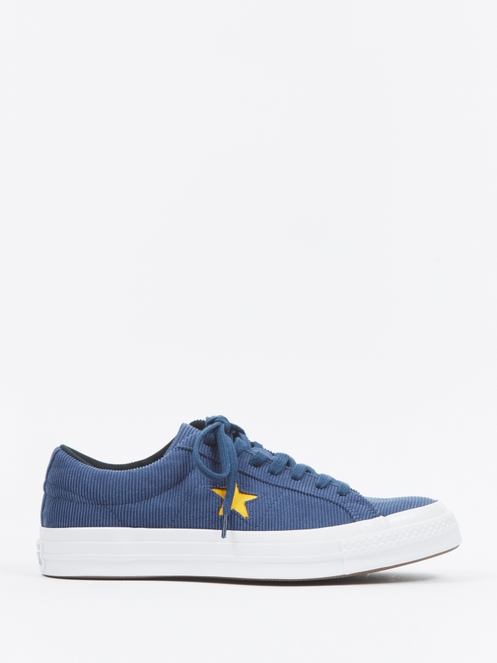 Converse One Star Ox Corduroy - Navy/University Gold (Image 1)