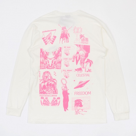 Mash Pig. Dyed L/S T-Shirt - Natural/Pink