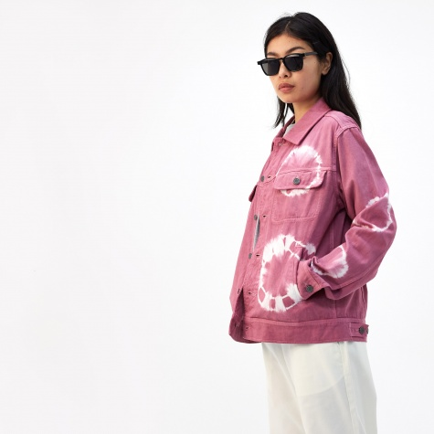 Bleach Dyed Trucker Jacket - Dusty Rose