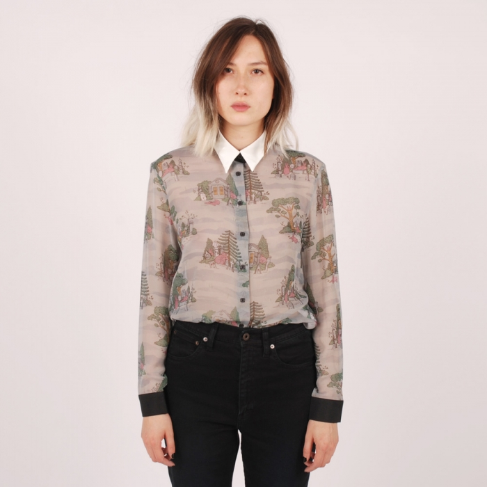Antipodium Dearly Departed Blouse - Bunny (Image 1)