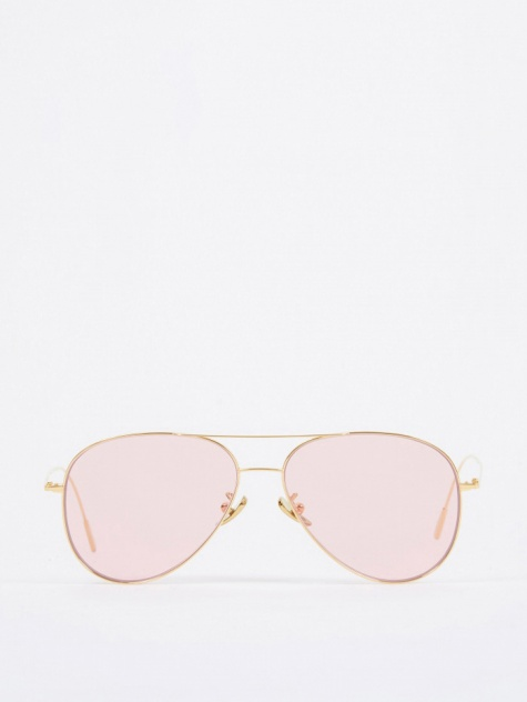 1266 Sunglasses - Gold Plated/Pale Pink