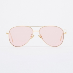 Cutler and Gross 1266 Sunglasses - Gold Plated/Pale Pink