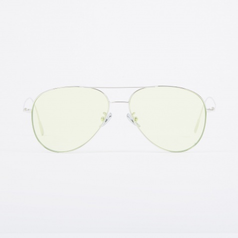 1266 Sunglasses - Palladium Plated/Pale Green