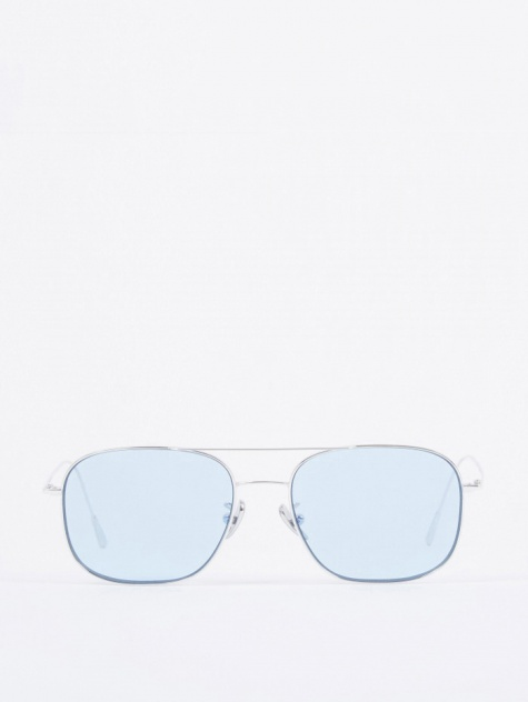 Cutler and Gross 1267 Sunglasses - Palladium Plated/Pale Blue