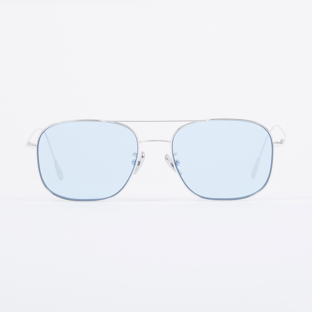 203401361 Cutler and Gross 1267 Sunglasses - Palladium Plated/Pale Blue (Image 1)