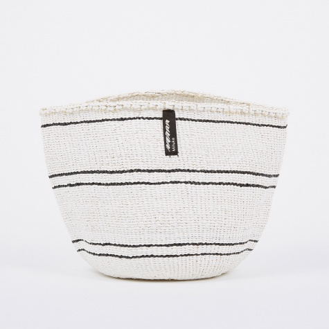 Kiondo Basket Small - 5 Stripes White & Black