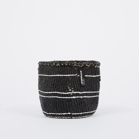 Kiondo Basket Extra Small - 5 Stripes Black & White