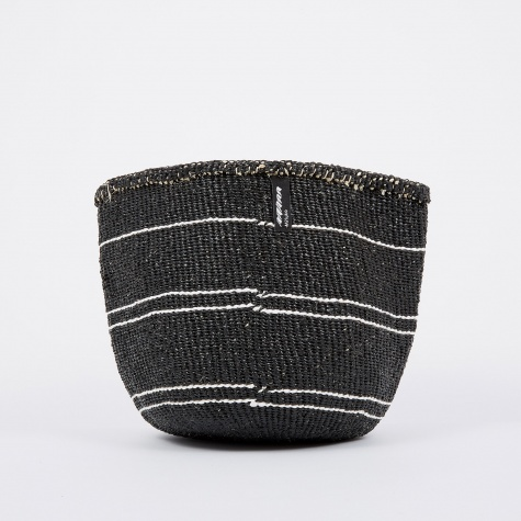 Kiondo Basket Small - 5 Stripes Black & White