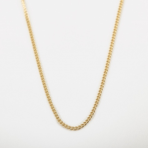 14 Filed Curb Chain 70cm - 9k Yellow Gold