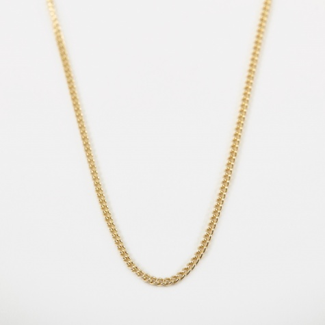 14 Filed Curb Chain 50cm - 9k Yellow Gold