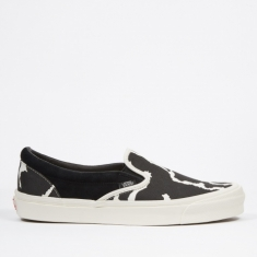Vans Vault UA OG Classic Slip-On LX - (Suede/Canvas) Black/Cow