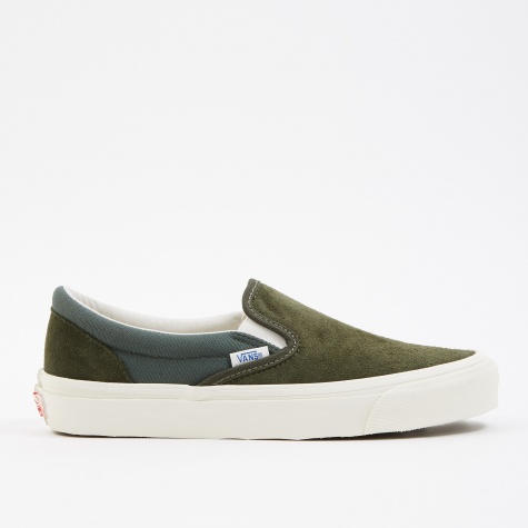 Vault UA OG Classic Slip-On LX - (Suede/Canvas) Forest Nigh