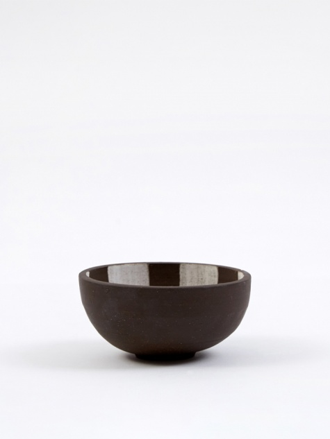Medium Incense Bowl - Dark Brown Inside Check