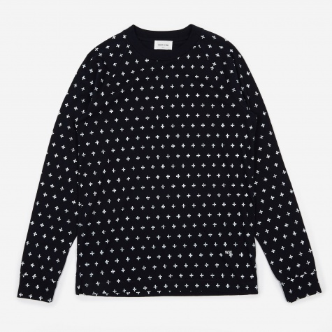 Han Long Sleeve T-Shirt - Navy AOP