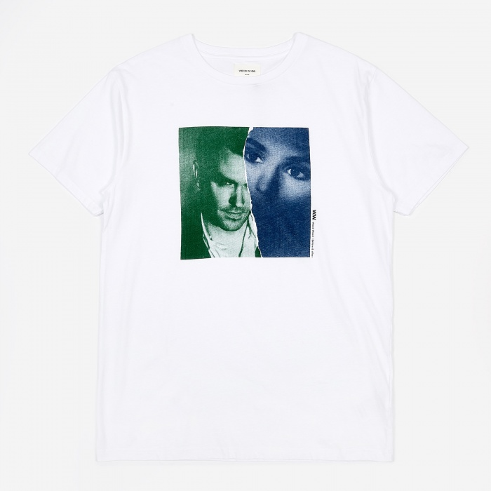 Moz/Sin T Shirt   Bright White by Wood Wood